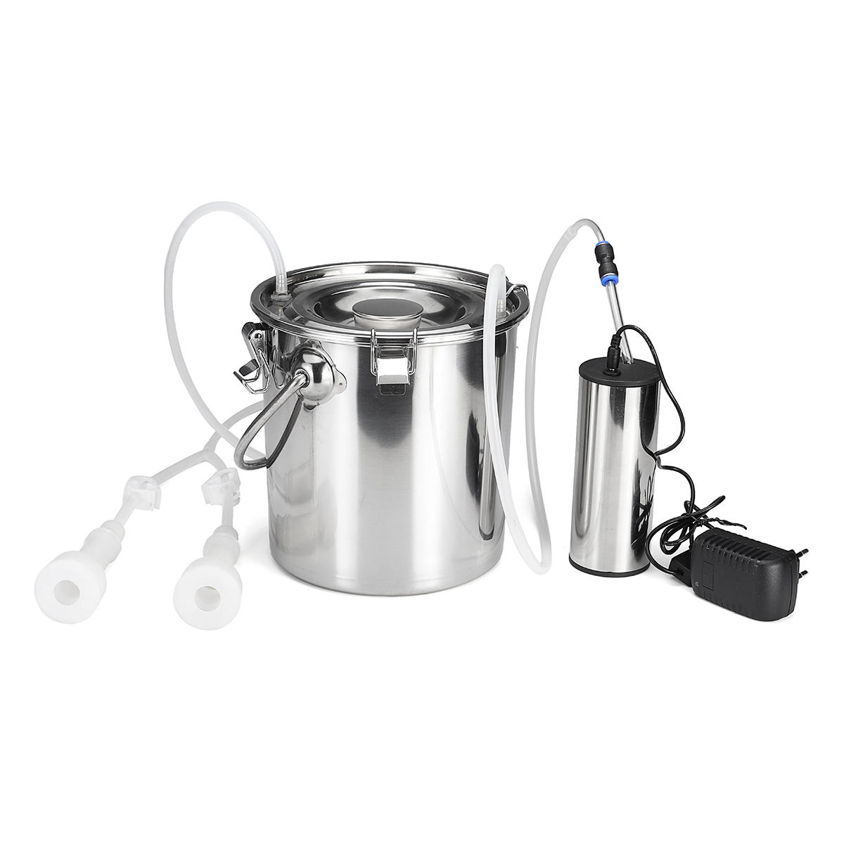 5l Electric Milking Machine Stainless Steel Cow Goat Sheep Bucket