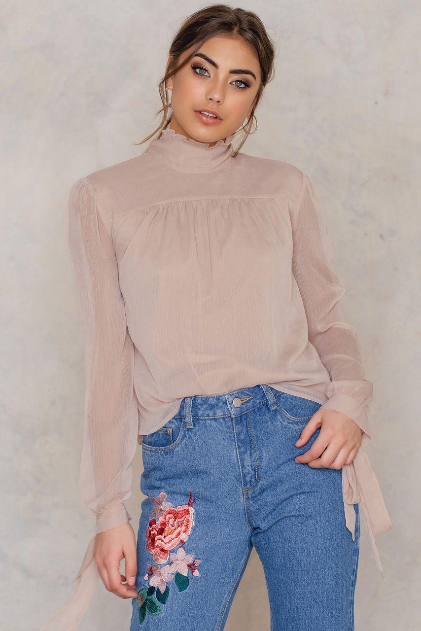 76b910867 Sheer Knot Blouse | Tops | Ruffle blouse, Knots, Shirt blouses