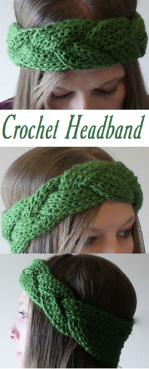 Crochet Headband | CrochetHolic - HilariaFina | Pinterest | Strick ...