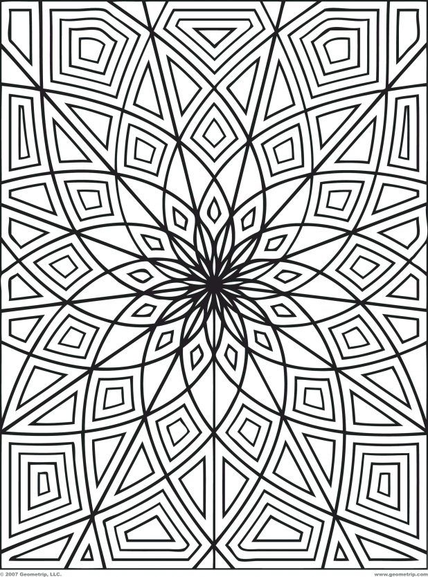 Illusions Coloring Pages Printable Free Optical Illusion Design ...