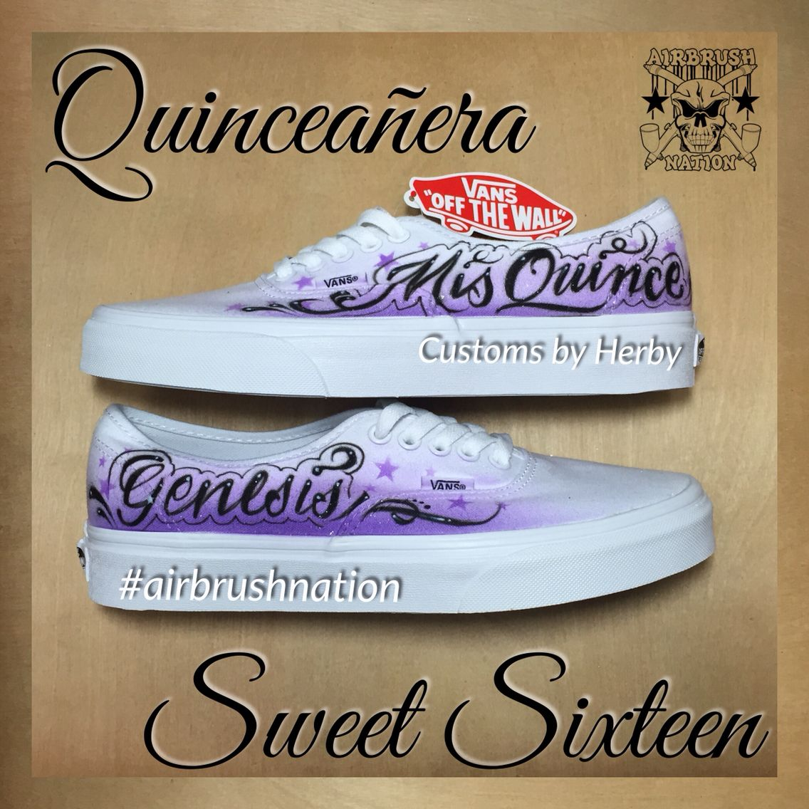 Quinceañera and Sweet Sixteen custom shoes. Customs by Herby   airbrushnation. Order yours today 323.456.5253 Quinceañera   vans customvans  sweetsixteen ... 337e1487a