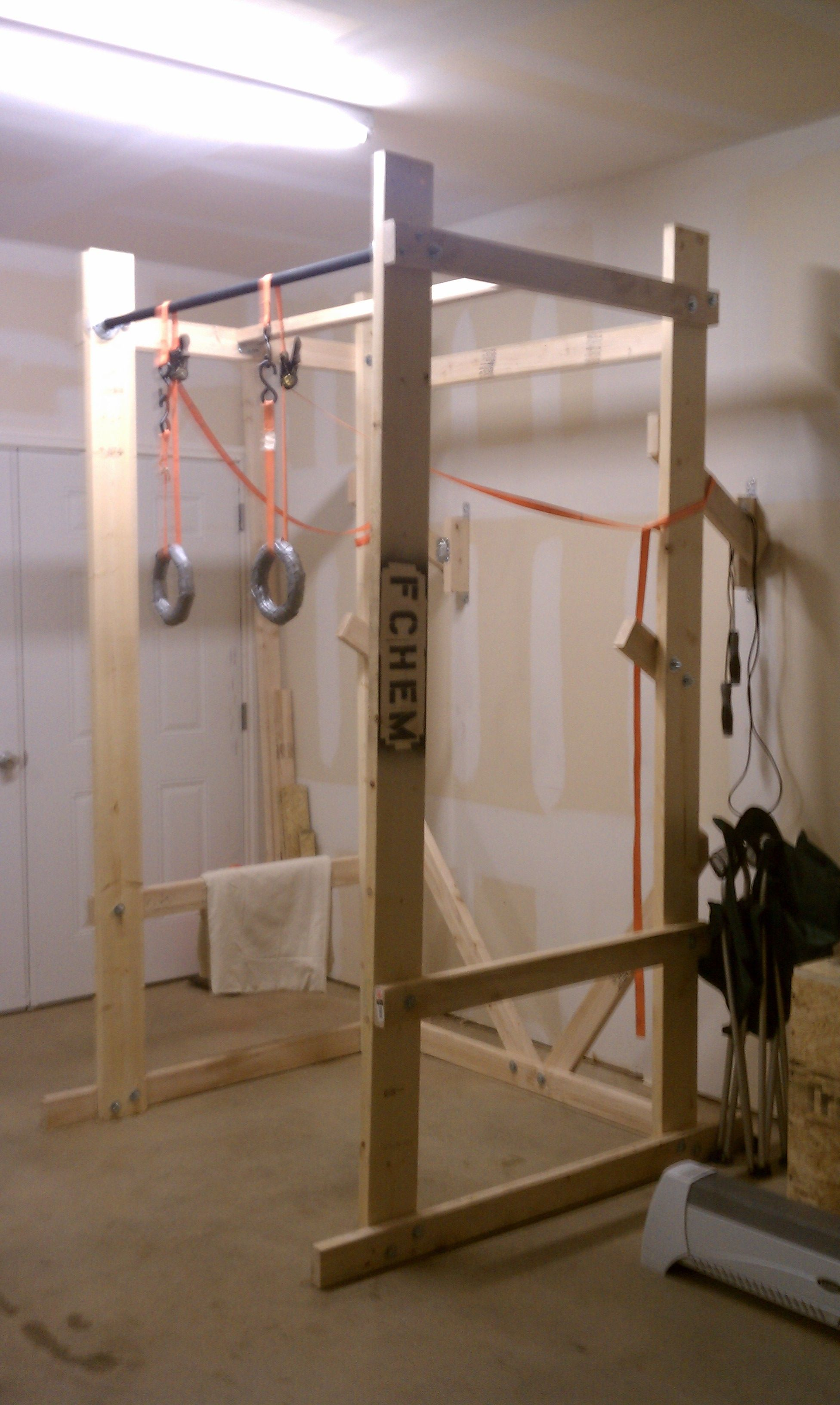 Build your own power rack garage gym and