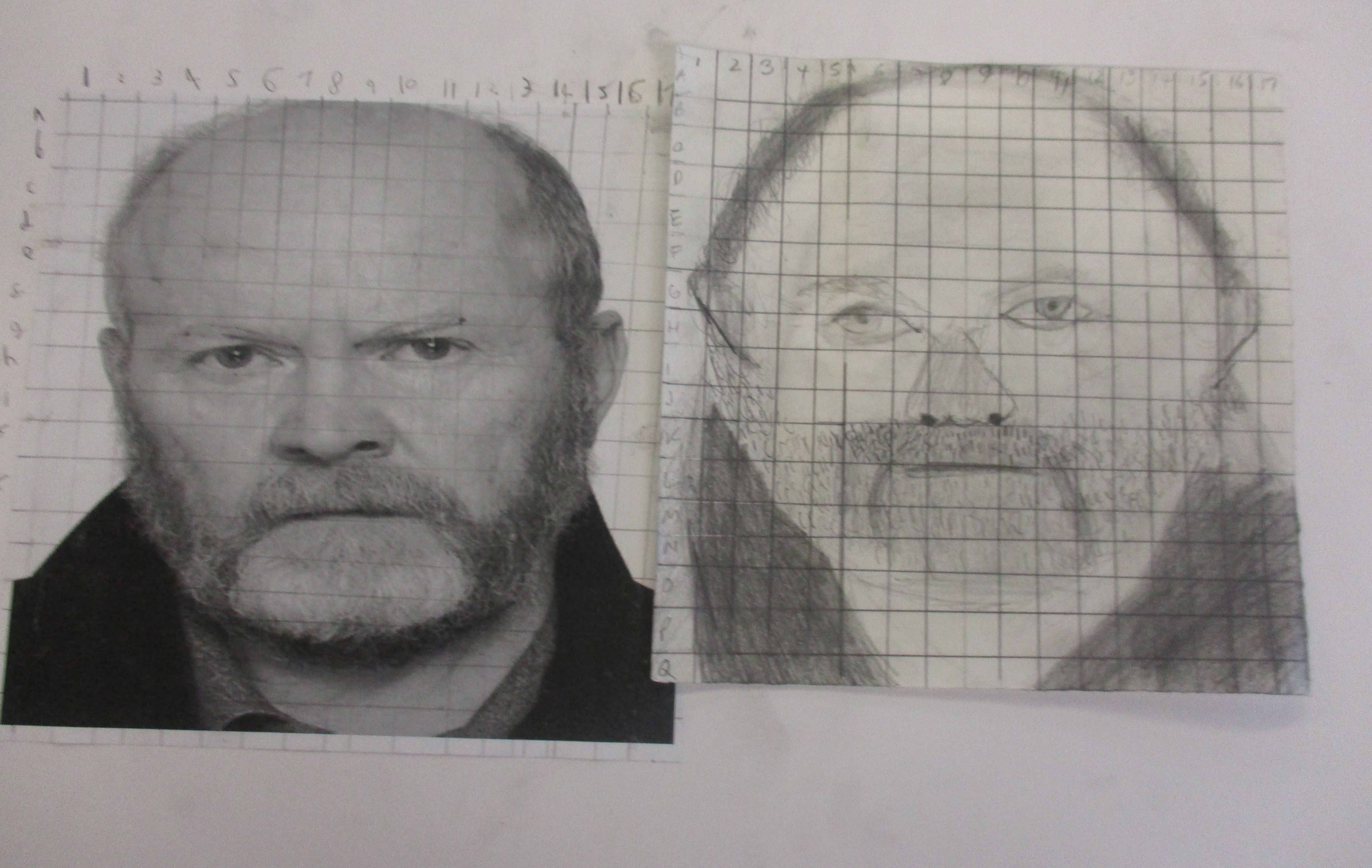 Tonal Drawings Of Portraits Using The Grid Method
