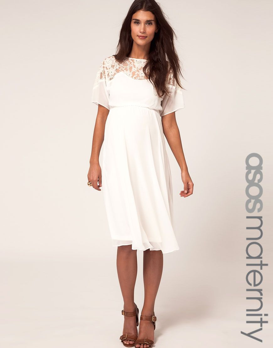 Asos maternity midi dress with lace detail the next chapter asos maternity midi dress with lace detail ombrellifo Choice Image