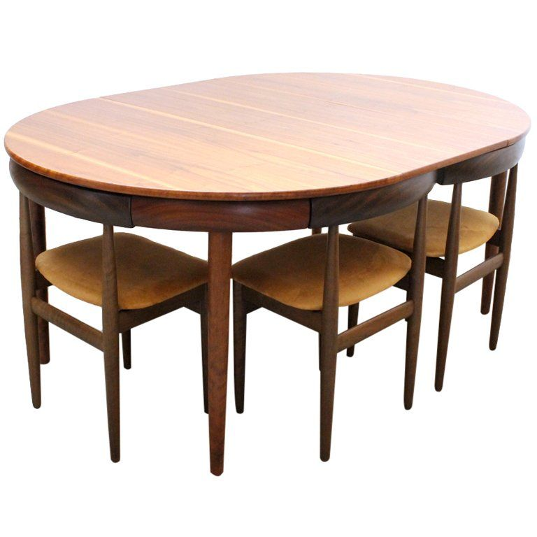 Hans Olsen Dining Table And Six Chairs Wooden Dining Chairs