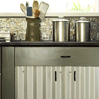 Creative Kitchen Cabinets creative kitchen cabinet ideas | corrugated metal, southern living