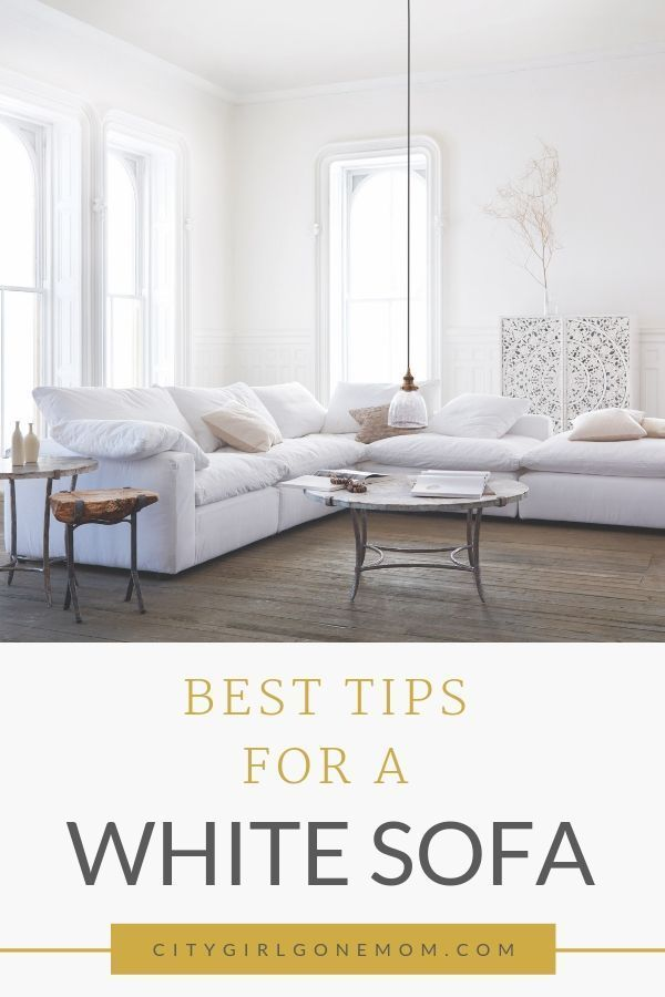 Furniture Cleaning Tips. Want a beautiful white sofa for your modern farmhouse living room, but worried about keeping it clean with kids or pets? These 5 tips will keep your white couch clean and free from dirt, dog hair or stains, for a neat and tidy home that always looks beautiful. #ad #arhaus #homedecor #homedesign #howtokeepwhitecouchclean #whitecouch #livingroom #cleaning