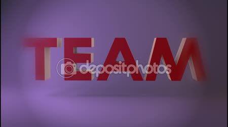 Teamwork issues CG Footage, Text Animation