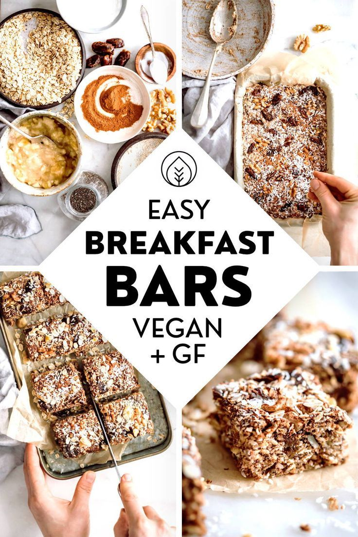 Easy Oat Breakfast Bars (Vegan)