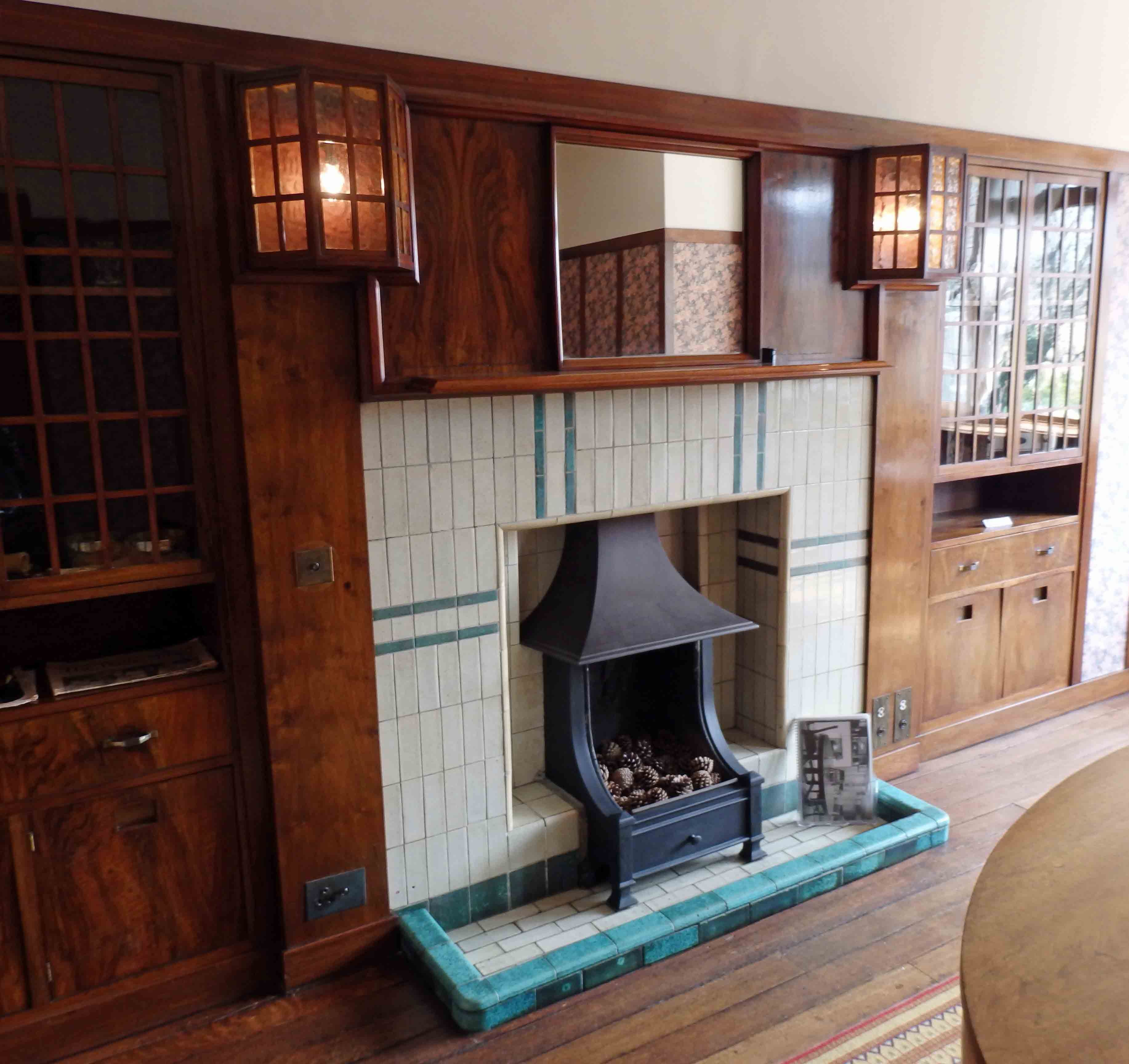 Nice Dining Room Of 78 Derngate, I Love The Mackintosh Lights Either Side Of The  Fireplace