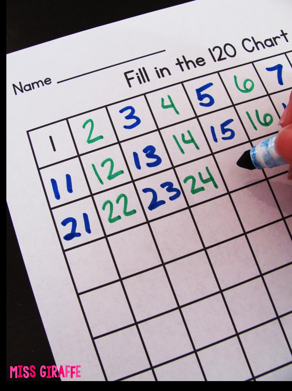RACE TO FILL hundreds chart Miss Giraffe\'s Class: Building Number ...