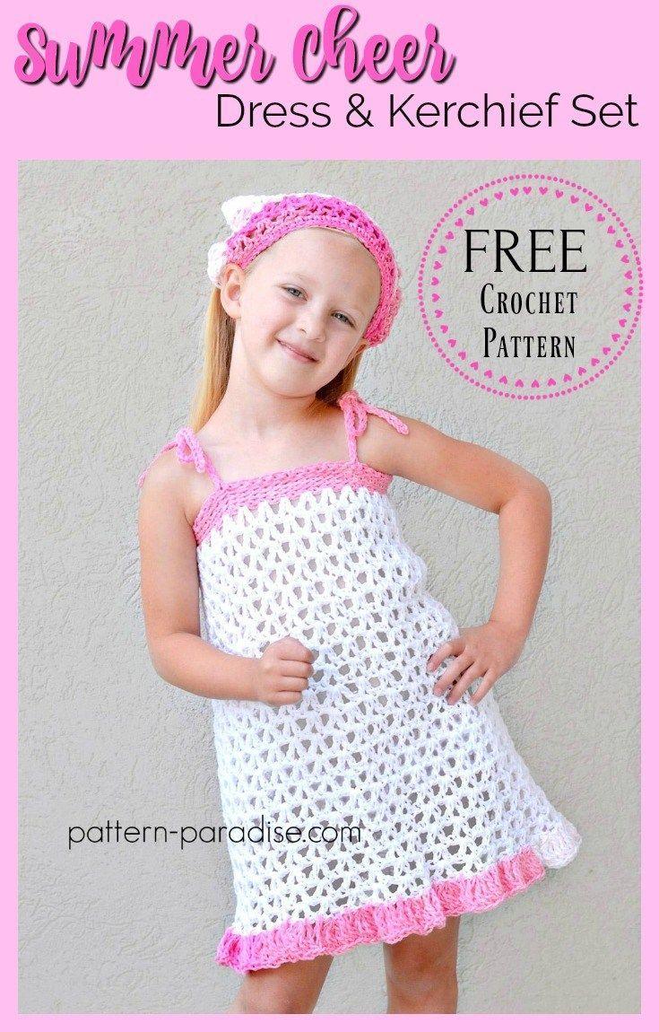 Free Crochet Pattern: Summer Cheer Dress and Kerchief Set ...