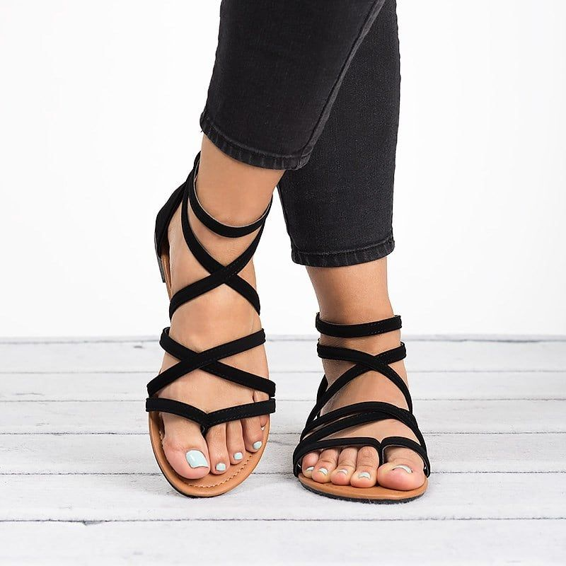 1523b3231 Casey Strappy Flat Sandals in 2019