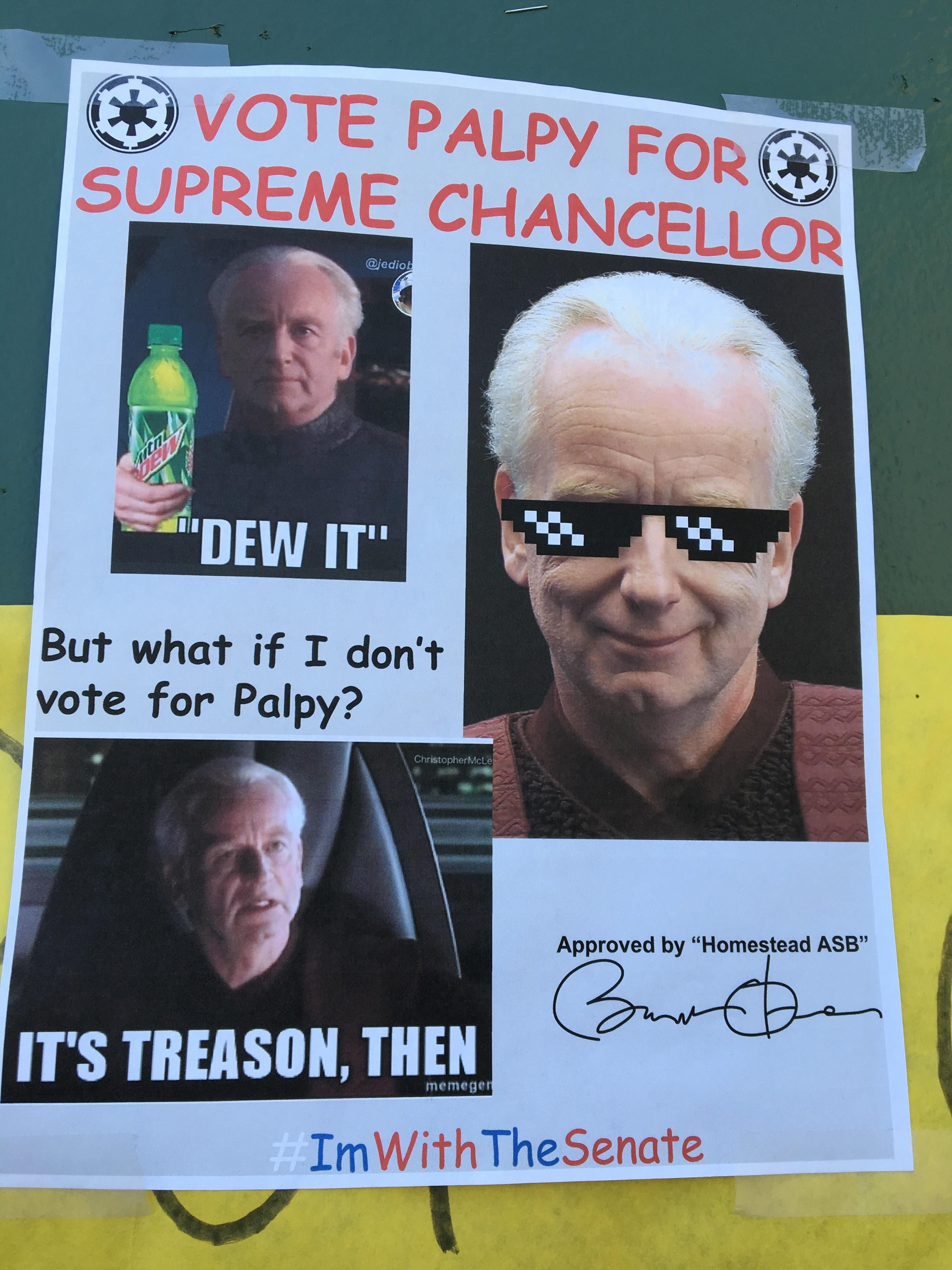 When Its Student Body Election Week At Your School Student Council Campaign Posters School Campaign Posters Student Memes