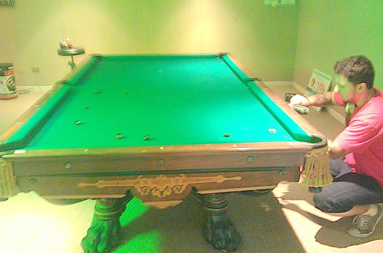 Brunswick Antique Pool Table Monarch, Chicago Pool Table Service, Rare  Museum Piece