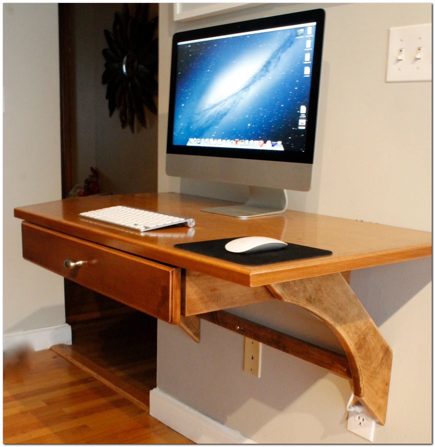100 Modern Wall Mounted Desk Ideas The Urban Interior Diy Wood Desk Computer Desk Design Wall Mounted Desk