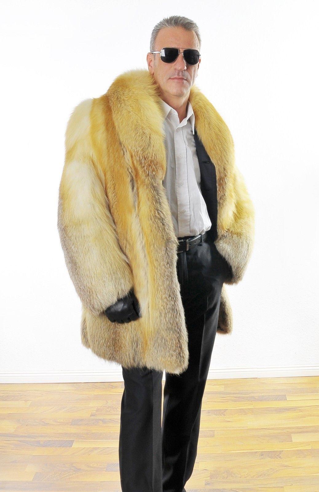 Fuchs Fox Coat Iceland Island Herren Pelzjacke Men's Fur ED29WHYeIb