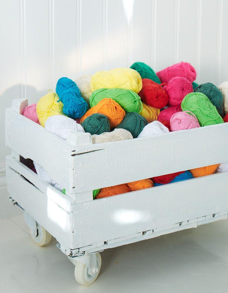Ideas para ordenar madejas y ovillos iii lana cajas de - Cajas para ordenar ...