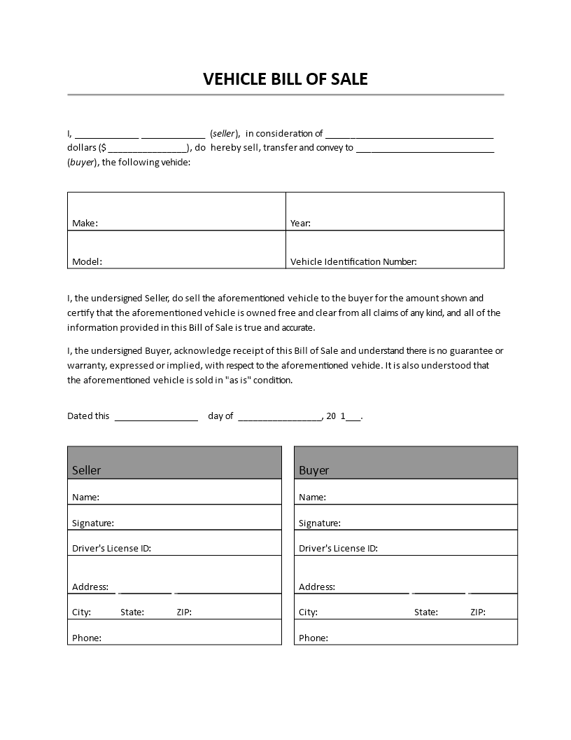 Vehicle Bill Of Sale Vehicle Bill Of Sale Doc Easy To Download And Use Doc Business Template Bill Of Sale Template Word Template Invoice Template