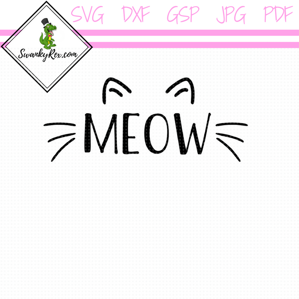 Meow Cat Ears And Whiskers Cat Ears Whiskers Cats