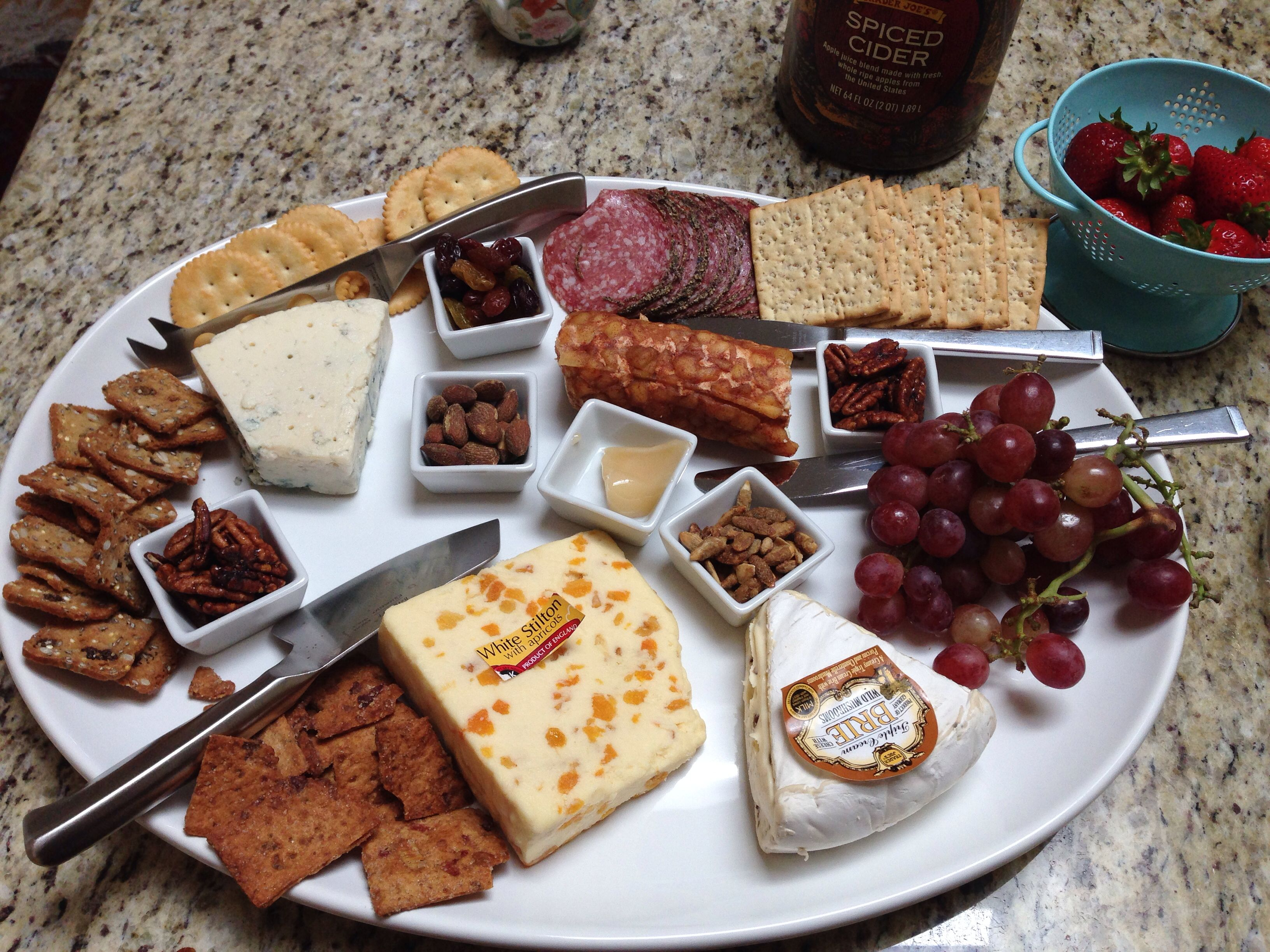 Easy and impressive cheese platter. All from Trader Joes