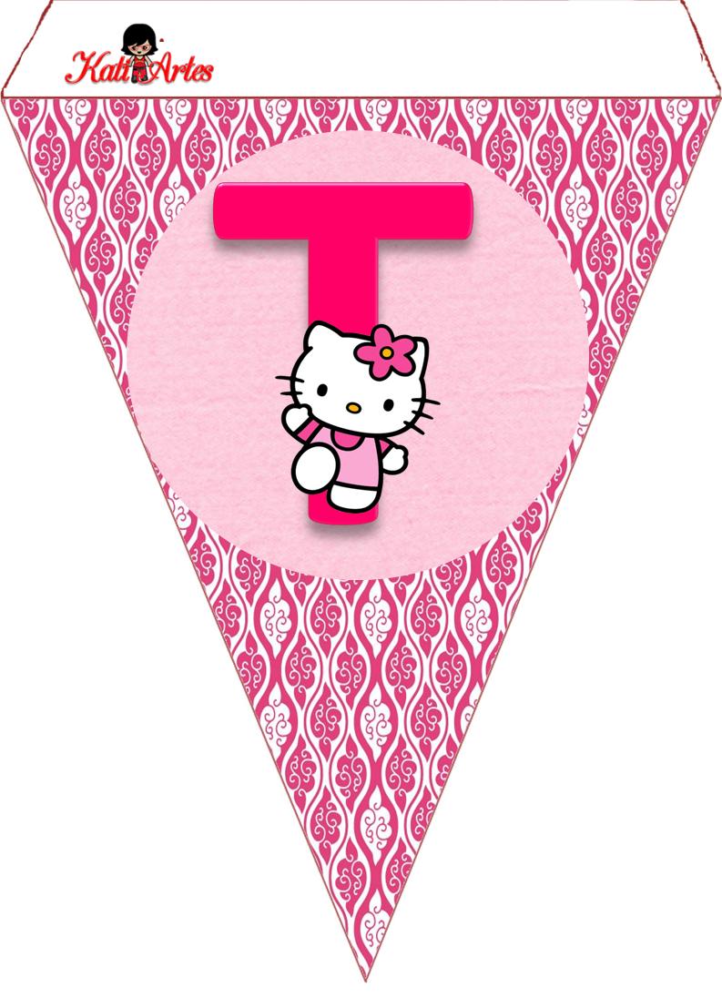 Uncategorized Hello Kitty Number eugenia katia artes blog de letras personalizadas e algumas coisinhas agosto 2014 bunting flagsbuntingshello kitty partieskit
