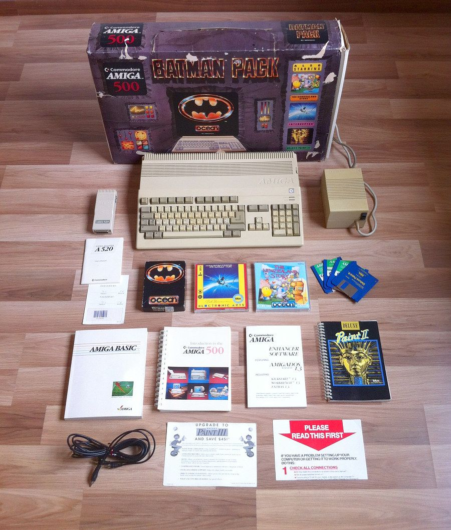 amiga 500 batman bundle commodore retro computing pinterest