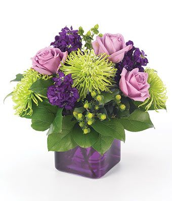 Purple Present At From You Flowers We Re Getting Married
