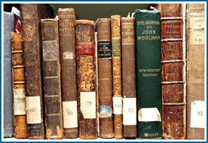 Historic books in the library's collection