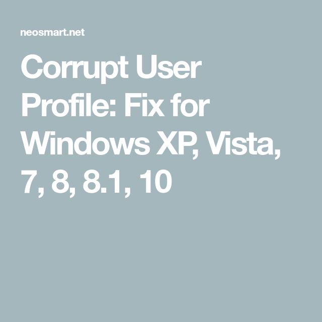 windows 8.1 profile corrupt