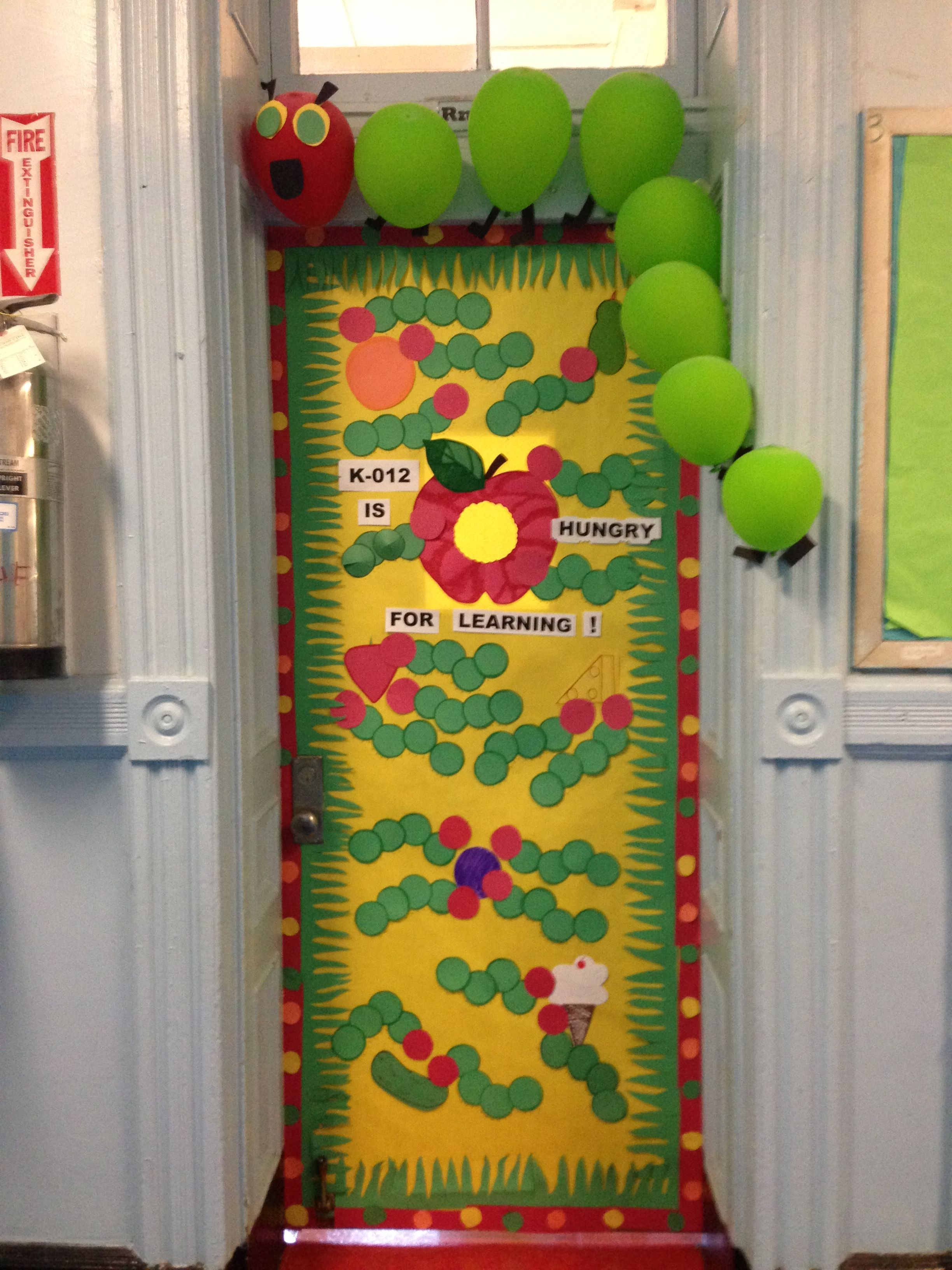 Classroom door decorations, The Very Hungry Caterpillar ...