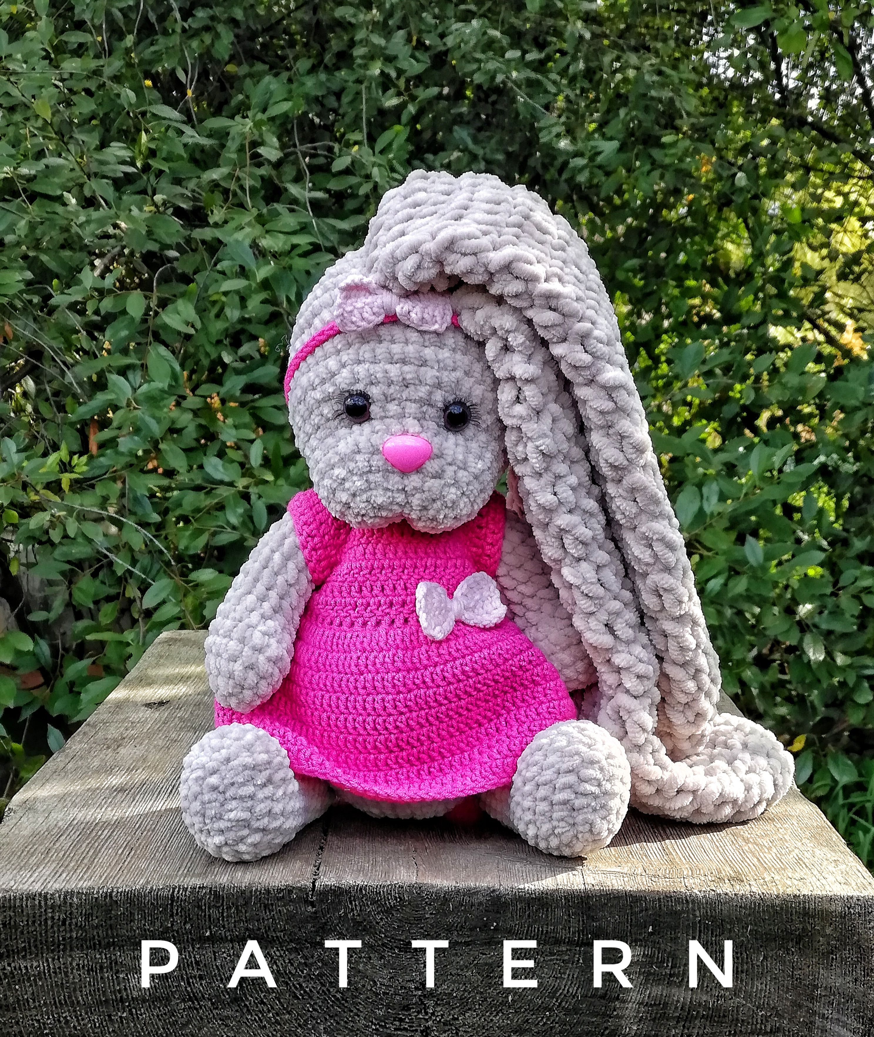 Amigurumi pattern bunny crochet stuffed animal pattern