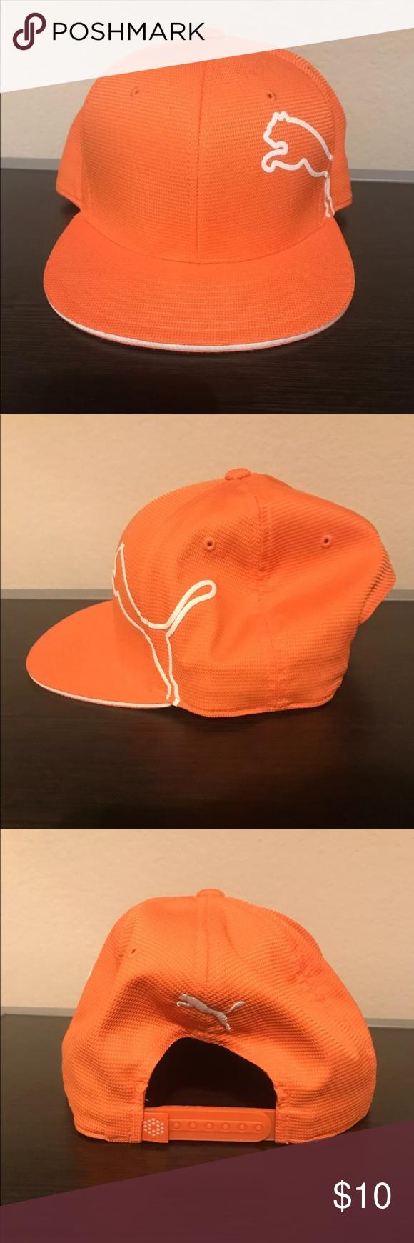 f8b7bfceb2f ... hurricane golf ba152 e091a closeout mens puma monoline snapback golf  hat puma snapback monoline golf hat in vibrant orange just ...