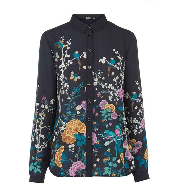V&A PRINT SHIRT (€63) ❤ liked on Polyvore featuring tops, patterned tops, shirt tops, print shirts, print top and pattern shirts