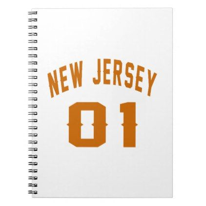 #New Jersey  01 Birthday Designs Spiral Notebook - #giftidea #gift #present #idea #one #first #bday #birthday #1stbirthday #party #1st