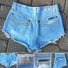 Vintage Brittania Denim Shorts Cut Offs Short Shorts 27 (26 Waist) Light Blue #lightblueshorts