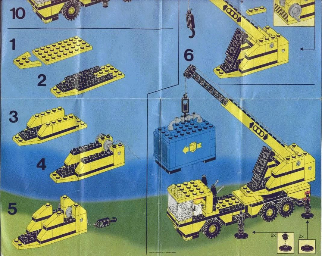 City Mobil Crane Lego 6361 Legos Lego Lego Instructions