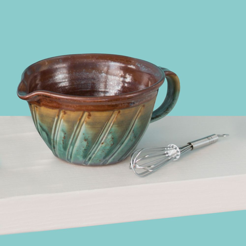 Batter Bowl With Whisk North Carolina Pottery Wedding Gift Gifts