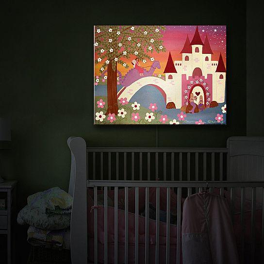 Illuminated Wall Art by DiaNoche Designs, Nightlight, Home Decor, Princess, Kids, Nursery