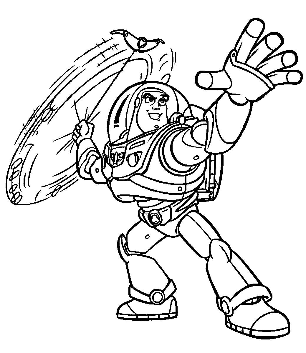 Coloring pages toy story - Buzz Lightyear Throwing Weapons Coloring Pages For Kids Printable Toy Story Coloring Pages For Kids