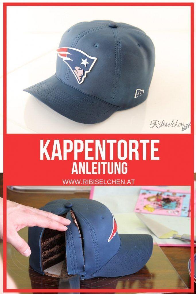 KAPPE TORTE: Anleitung für eine Baseball Cap Torte (bzw. Football �)!