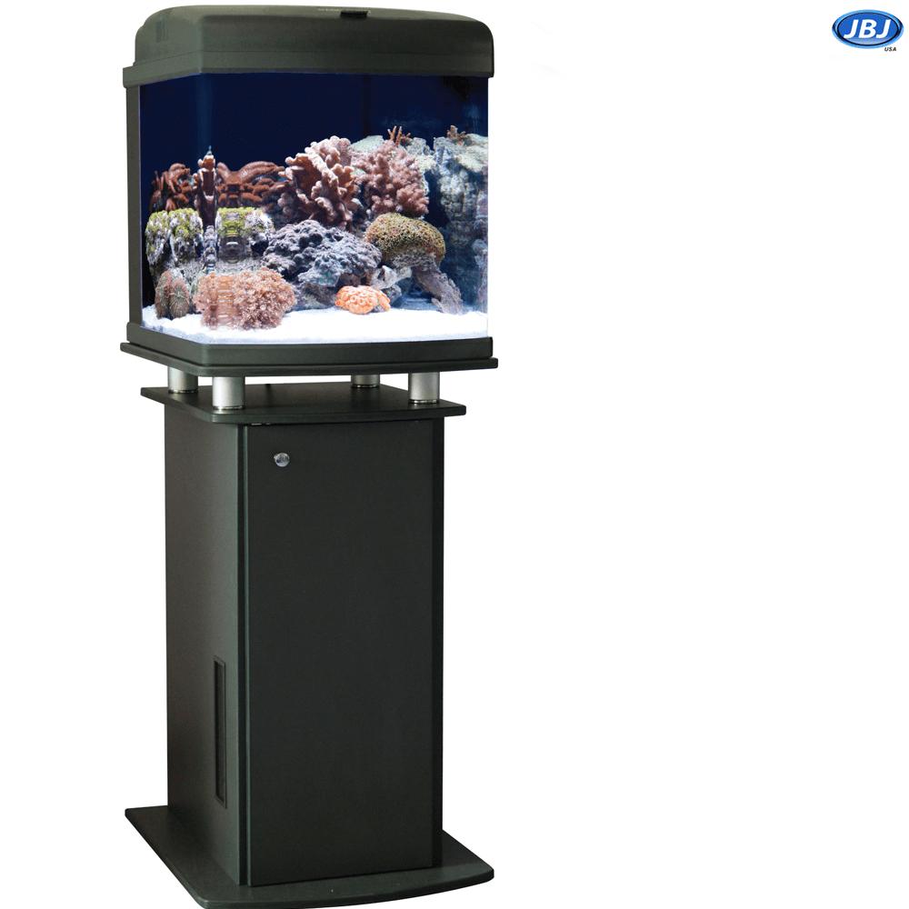Jbj 28 Gallon Nano Cube Led Aquarium With Cabinet Stand On Sale 669 97 Aquarium Aquarium Systems Gallon