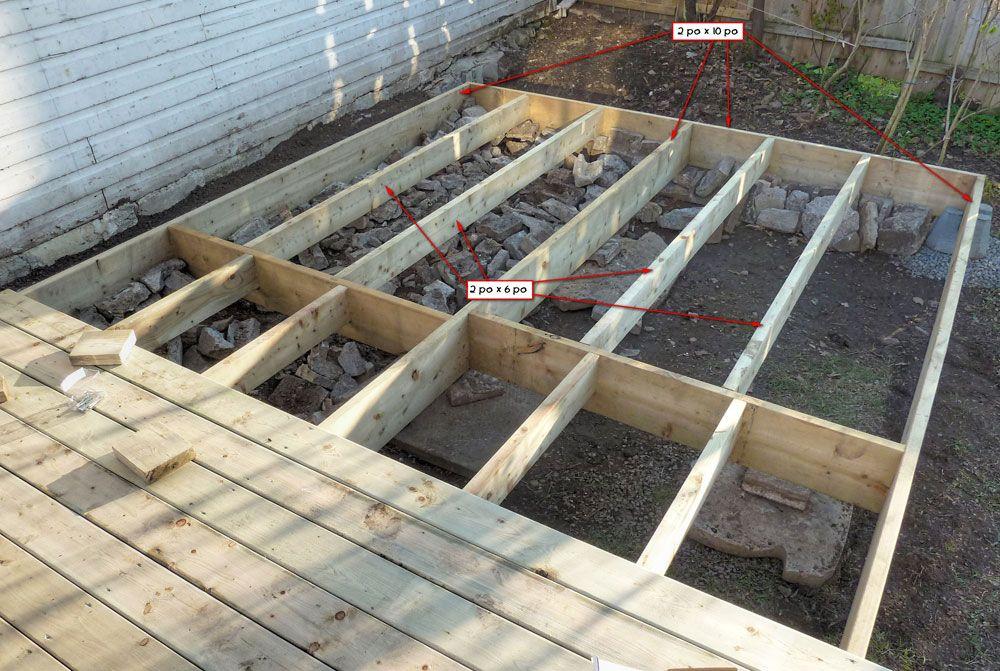 construire terrasse bois terrasse bois Pinterest Terrasse bois - Faire Une Terrasse En Beton