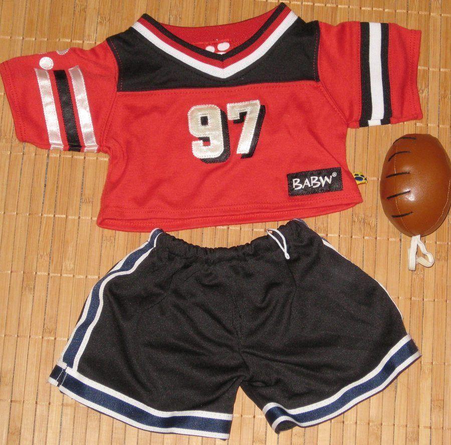 Build a bear clothing football red jersey shirt 97 black