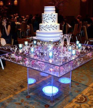 Our Wedding Cake And Amazing Acrylic Stand