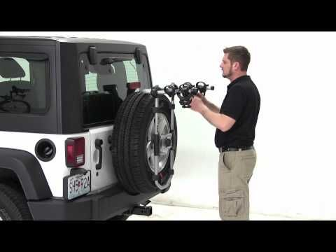 Review Of The Thule Spare Me Spare Tire Mount Bike Rack On A 2012 Jeep Wrangler Etrailer Com Youtube Thule Bike Bike Rack Spare Tire Mount