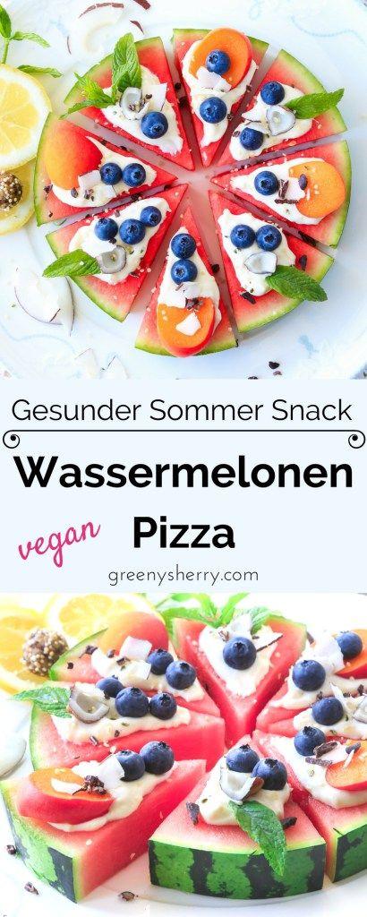 Photo of Watermelon Pizza – Healthy Summer Snack – Greeny Sherry – Vegan Recipes & Live Green vegan food & life