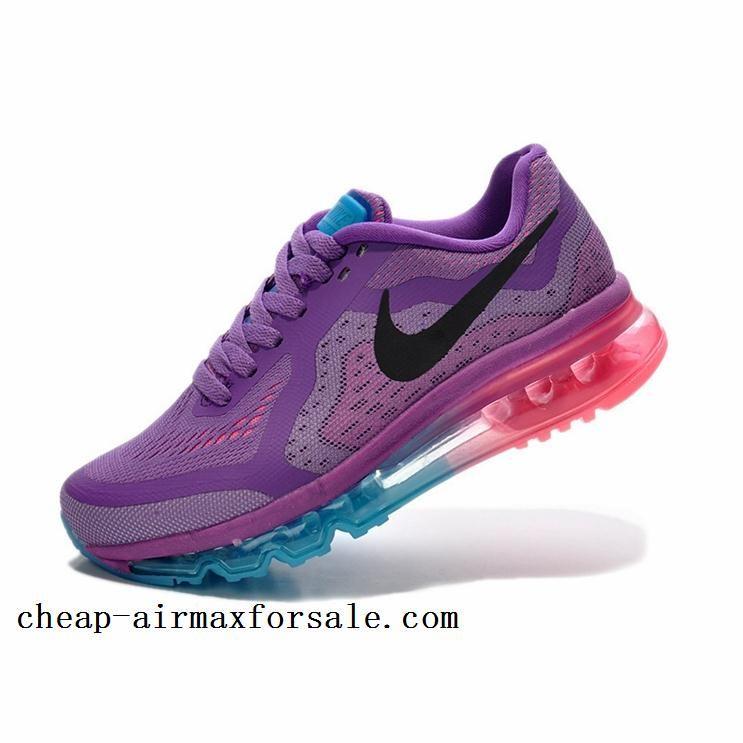 Stock Nike Air Max 2014 Womens Purple Blue Pink Shoes Cheap Online Free  Shipping nike air max breathe free ii tennis shoes 83465531cf
