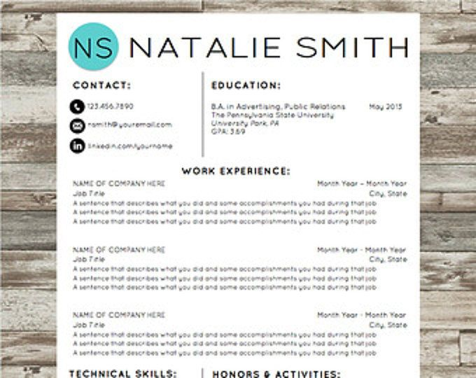 Professional Resume Template Instant Download Modern Cv Template