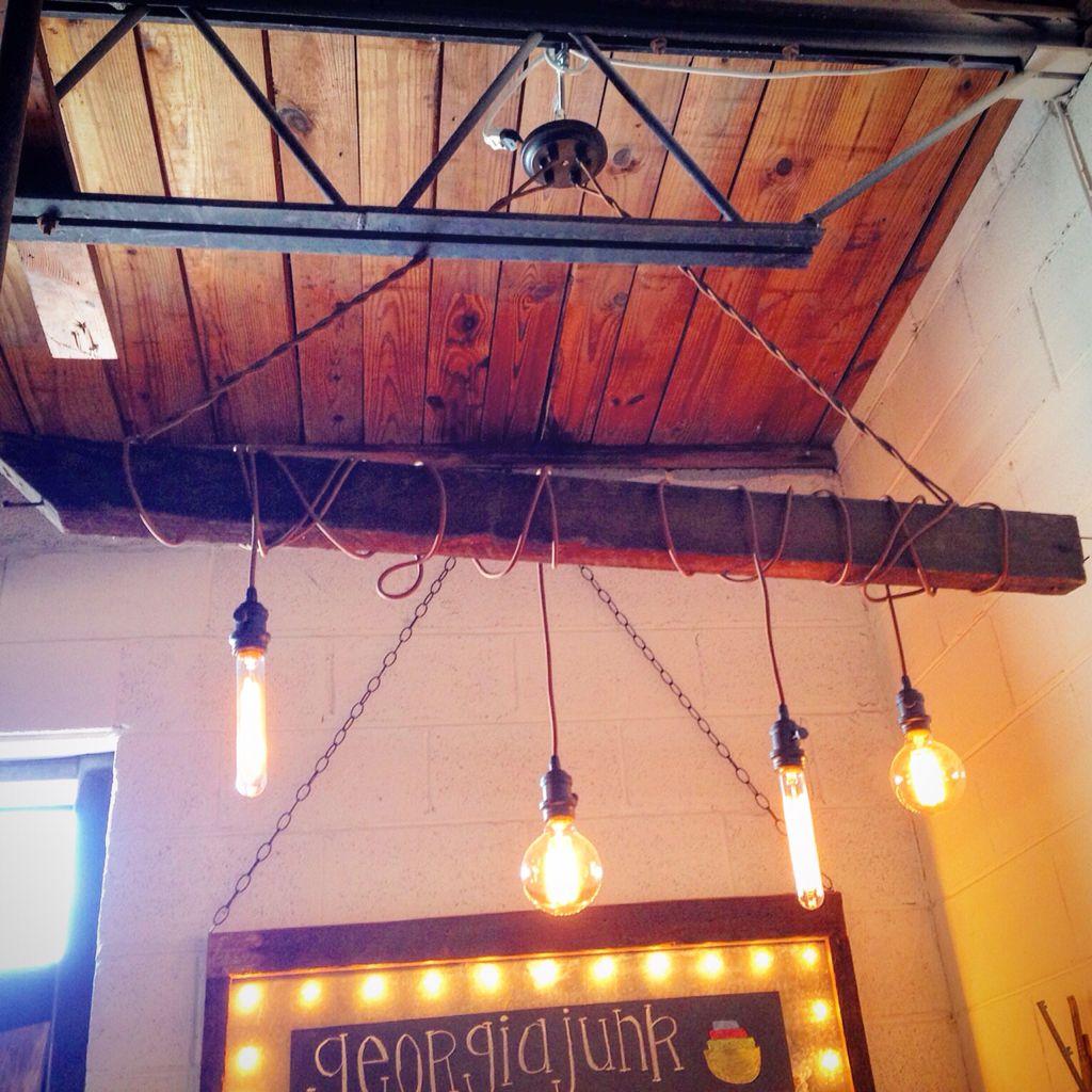 Handmade light fixture made from reclaimed heart pine beam out of a handmade light fixture made from reclaimed heart pine beam out of a local old farmhouse arubaitofo Gallery